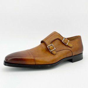 Magnanni Men's Guamet Double Monk Strap Loafer